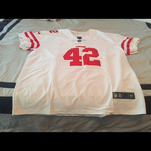 info for d64b5 77289 NFL 49ers Ronnie Lott throwback jersey